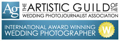 The artistic guild of the wedding photojournalist association logo small