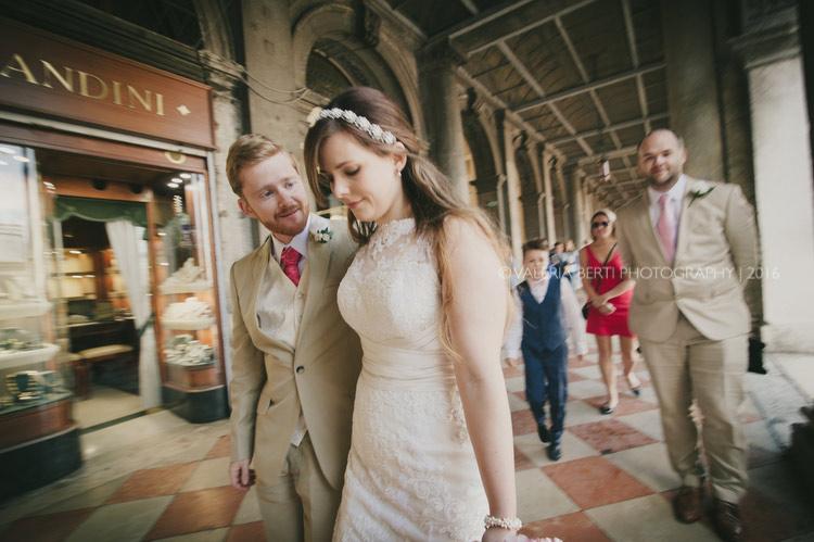 Wedding in Venice Reception Caffè Florian Rebecca David
